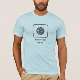 Basketball Player (Gray Logo) -- Customizable T-Shirt