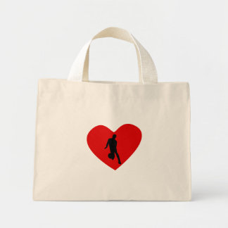 Basketball Player Heart Canvas Bag