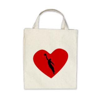 Basketball Player Heart Tote Bag