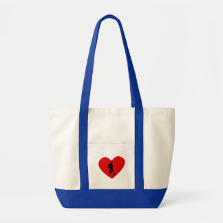 Basketball Player Heart Tote Bags