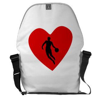 Basketball Player Heart Courier Bag