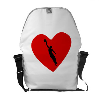 Basketball Player Heart Messenger Bag