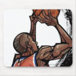 Basketball player holding ball mouse pads