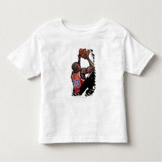 Basketball player holding ball tee shirt