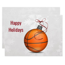 basketball player Holiday Greeting Cards