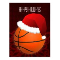 basketball player Holiday greeting Postcard