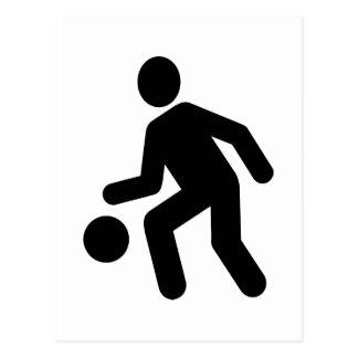 Basketball Player icon Postcard
