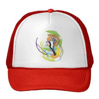 Basketball player illustration trucker hat