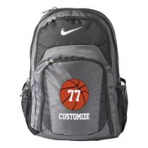 Basketball Player Jersey Number & Team Name Custom Backpack