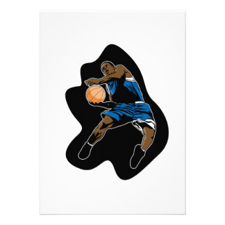 basketball player jump dunk dunker personalized invitation