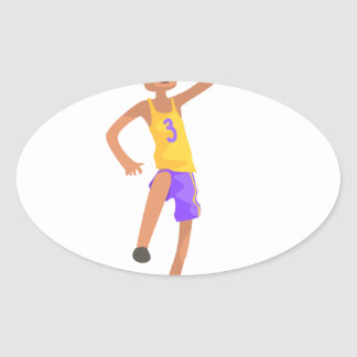 Basketball Player Jumping Action Sticker