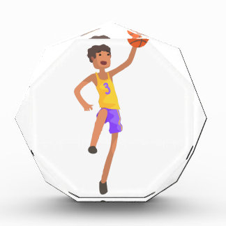 Basketball Player Jumping Action Sticker Acrylic Award