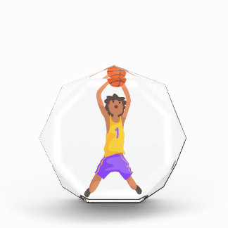 Basketball Player Jumping And Throwing Action Stic Award