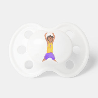 Basketball Player Jumping And Throwing Action Stic Pacifier