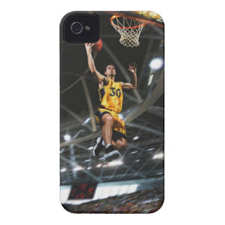 Basketball player  jumping in air iPhone 4 cover