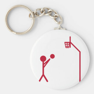 basketball player keychain