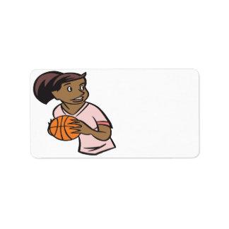 Basketball Player Label