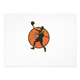 Basketball Player Lay Up Ball Personalized Invites