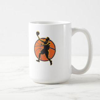 Basketball Player Lay Up Ball Mugs
