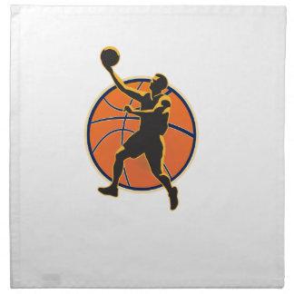 Basketball Player Lay Up Ball Napkin