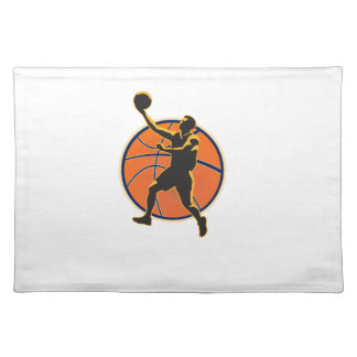 Basketball Player Lay Up Ball Placemats