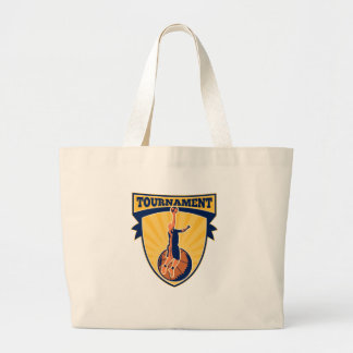 Basketball Player Lay-up Ball Shield Tote Bags