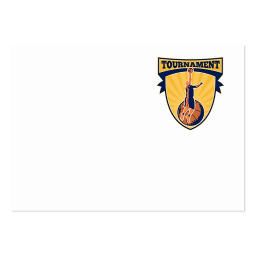 Basketball Player Lay-up Ball Shield Large Business Cards (Pack Of 100)