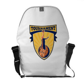 Basketball Player Lay-up Ball Shield Courier Bags