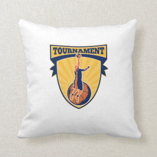 Basketball Player Lay-up Ball Shield Pillow
