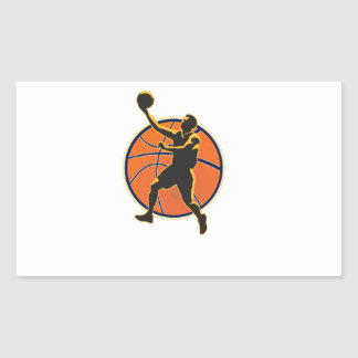 Basketball Player Lay Up Ball Stickers