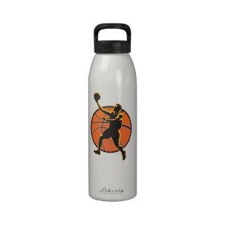 Basketball Player Lay Up Ball Reusable Water Bottles