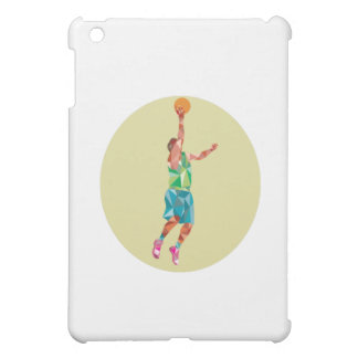 Basketball Player Lay Up Rebounding Ball Low Polyg Case For The iPad Mini