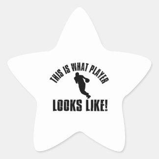 Basketball Player Looks Like Star Sticker