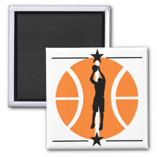 Basketball Player 2 Inch Square Magnet
