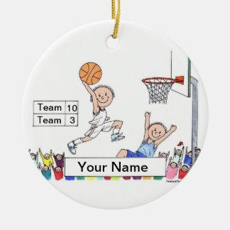 Basketball Player - Male Ceramic Ornament