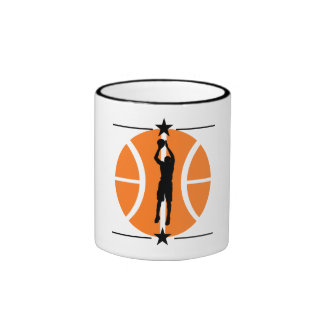 Basketball Player Ringer Mug