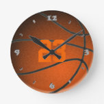Basketball Player Number Round Clock