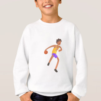 Basketball Player Passing The Ball Action Sticker Sweatshirt