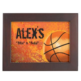 Basketball Player Personalized Custom Keepsake Box