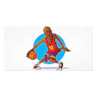 Basketball Player Personalized Photo Card