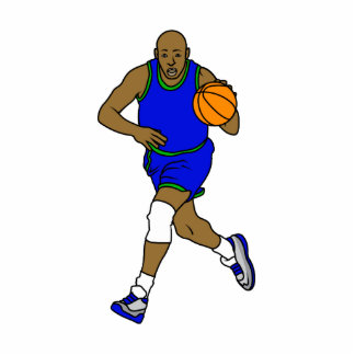 Basketball player cut out