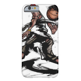 Basketball player playing with basketball barely there iPhone 6 case
