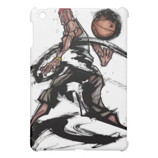 Basketball player playing with basketball cover for the iPad mini