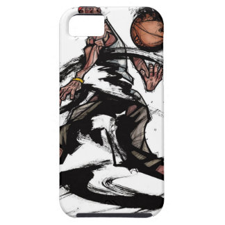 Basketball player playing with basketball iPhone SE/5/5s case