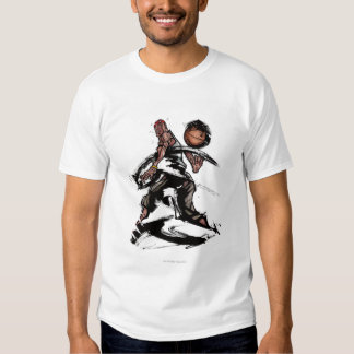 Basketball player playing with basketball t-shirt