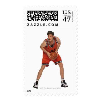 Basketball player postage stamp