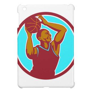 Basketball Player Rebounding Ball Circle Retro Cover For The iPad Mini