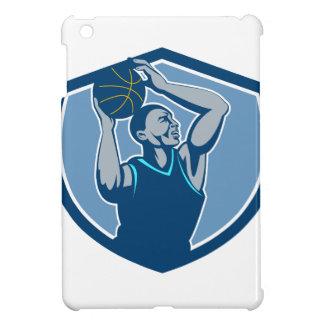 Basketball Player Rebounding Ball Crest Retro iPad Mini Covers