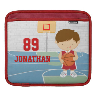 Basketball Player Red and White iPad Sleeve