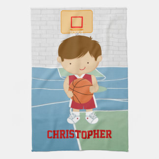 Basketball Player Red and White Towel